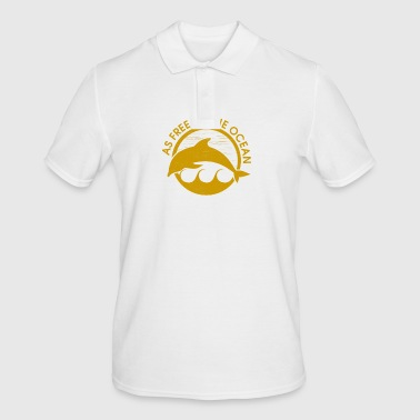 As free as the ocean - Männer Poloshirt