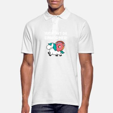 Enslavement Enslaved the unicorn donut gift - Men's Polo Shirt