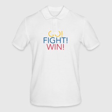 Go! Fight! Win! Madrid Flag Fan T-Shirt - Männer Poloshirt