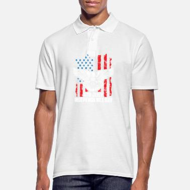 Officialbrands Independence Day 4 luglio - Eagle Flag T-Shirt - Polo da uomo