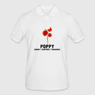 Flower: Poppy - Men's Polo Shirt