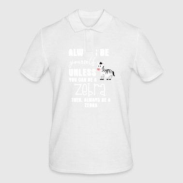 Zebra Zebra - Zebras - Zebra Finch - Be Yourself - Men's Polo Shirt