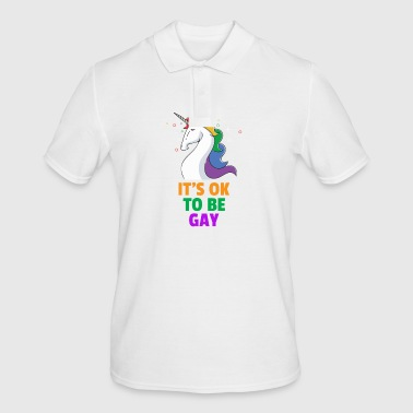 Gay Pride LGBT It's OK to be Gay Funny Novelty - Men's Polo Shirt