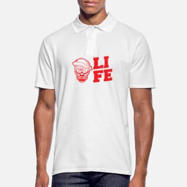 Officialbrands LOVE LIFE SKATE Vintage Skateboard T-Shirt Tee - Men's Polo Shirt