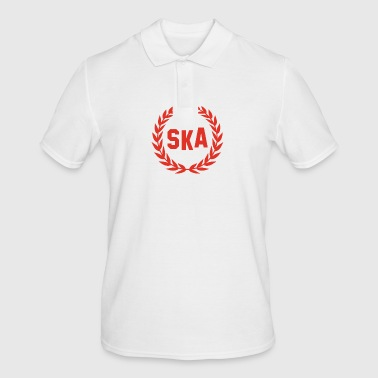 SKA music laurel wreath skinhead - Men's Polo Shirt