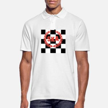 Ska Punk SKA Checkered Skinhead Punk Music T-Shirt - Men's Polo Shirt