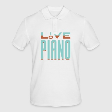 Amour piano piano cadeau disant musicien - Polo Homme