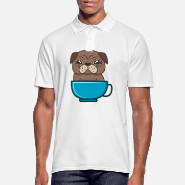 Dog in the cup, Pug in the mug - Men's Polo Shirt