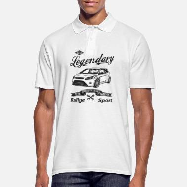 Ford Focus MK2 RS legendary car silhouette - Men's Polo Shirt