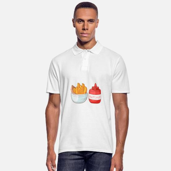 Frittes Polos - Frites frites - Polo Homme blanc