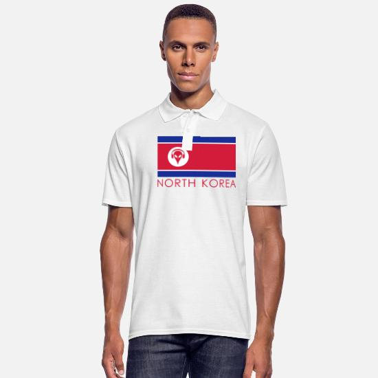 Music Polo Shirts - Music North Korea - Men's Polo Shirt white