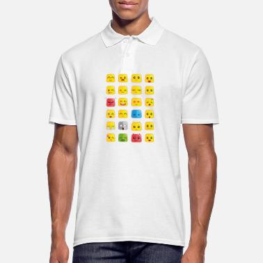 Emoticon Cute Emoticons - Männer Poloshirt