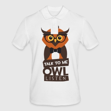 Owl - Talk To Me Owl Lists - Men's Polo Shirt