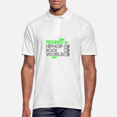 Wear TECHNO MUSIC - Männer Poloshirt
