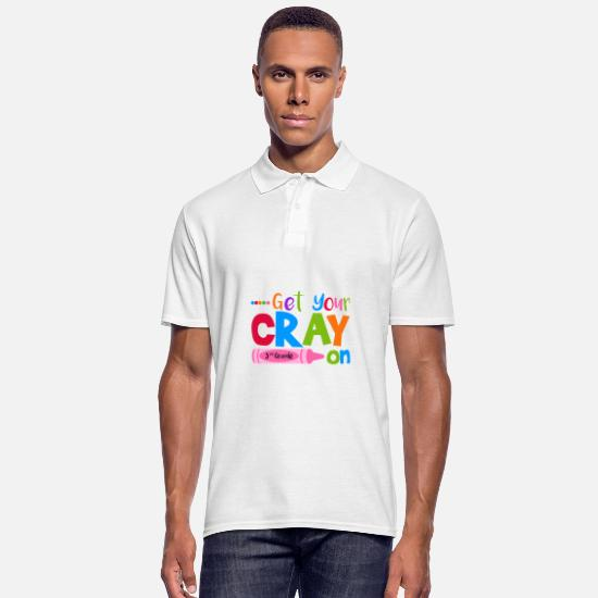 Gift Idea Polo Shirts - Get Your Cray on 3rd Grade School Gift Student - Men's Polo Shirt white