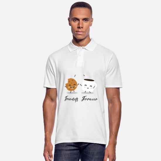Love Polo Shirts - friends - Men's Polo Shirt white