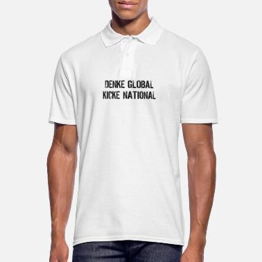 National global national - Männer Poloshirt