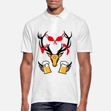 Stag Underwear 242 deer with prey deer head beer - Men's Polo Shirt