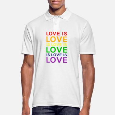 Lovely Love is Love is Love is Love Rainbow - Men's Polo Shirt