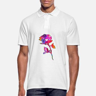 Old School Rose avec coeur - Polo Homme
