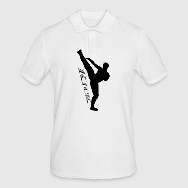 High kick kick black - Men's Polo Shirt