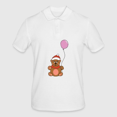 Ugly Cute Teddy Bear Balloon Christmas Xmas - Men's Polo Shirt