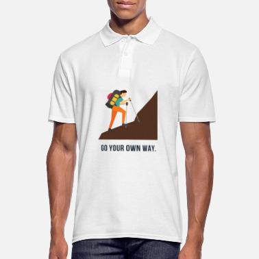 Relax go your own way - Männer Poloshirt