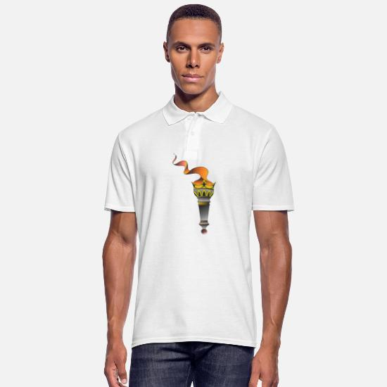 Tattoo Polo Shirts - Torch - Men's Polo Shirt white