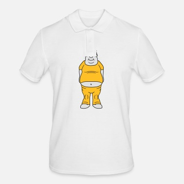 Clip Art man fat dick clip art comic cartoon funny traini - Men's Polo Shirt