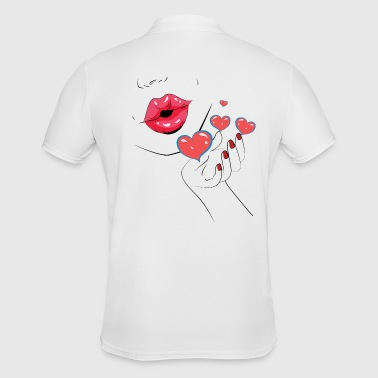 Kiss - Kiss - Kiss - Lips - Lips - Men's Polo Shirt