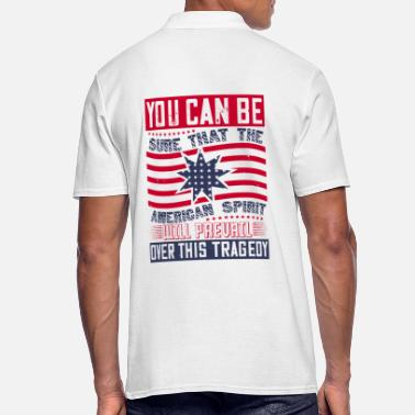 Democracy Patriot Day American Spirit wants prevail - Men's Polo Shirt