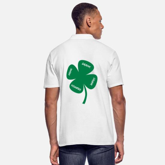 Alcohol Polo Shirts - drunk on St Patricks Day - Men's Polo Shirt white