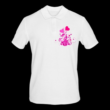 Blooming hearts - Men's Polo Shirt