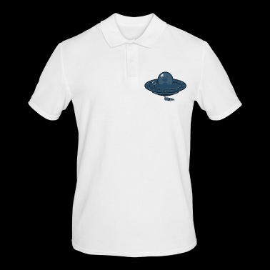 Flying saucer and Alien - Men's Polo Shirt