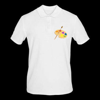 Palette of paint and brush - Men's Polo Shirt