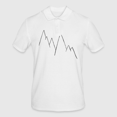 Mountains drawn in a minimalistic manner - Men's Polo Shirt