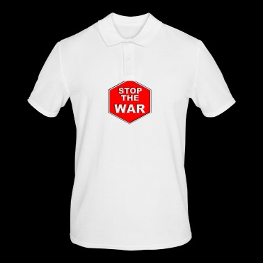 STOP THE WAR - Männer Poloshirt