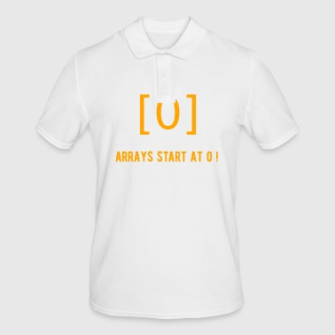 Start the array at 0 - Men's Polo Shirt