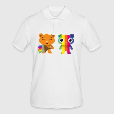 Bears painted with a brush - Men's Polo Shirt