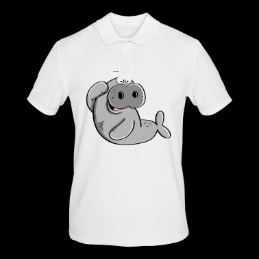 Funny Manatee - manatees - walrus - sea lion - Men's Polo Shirt