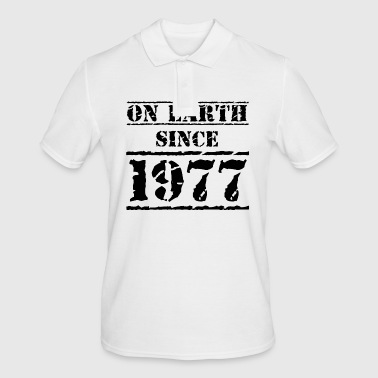 on earth since 1977 40th birthday 40th birthday - Men's Polo Shirt