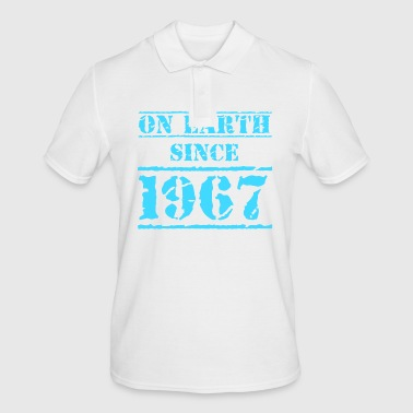 on earth since 1967 50th birthday 50th birthday - Men's Polo Shirt