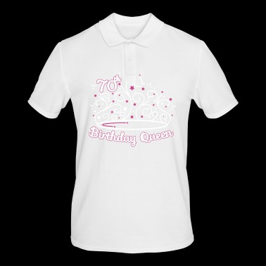 70th Birthday / Years 70th Birthday Queen Gift - Men's Polo Shirt