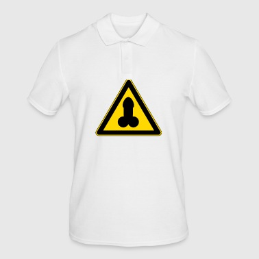 warning penis - Men's Polo Shirt
