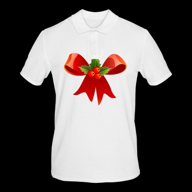 christmas bow - Men's Polo Shirt