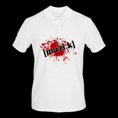 Splatter music - Men's Polo Shirt