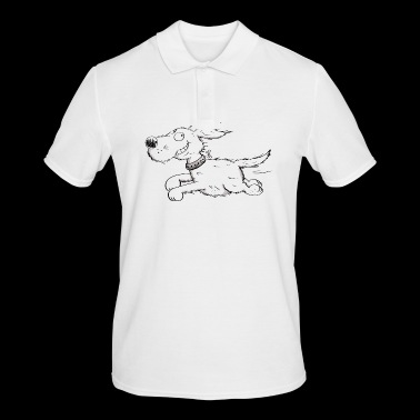 Funny Running Dog - Comic - Men's Polo Shirt