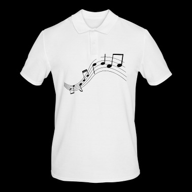 Music notes, music, notes - Men's Polo Shirt