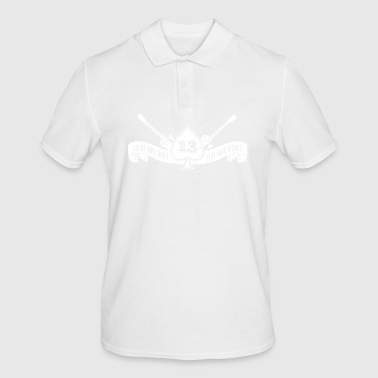 Rock shirt ace of spades and number 13 (white) - Men's Polo Shirt