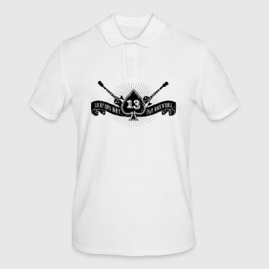 Rock shirt ace of spades and number 13 - Men's Polo Shirt